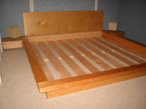 "wood platform bed ""the Gavin"""