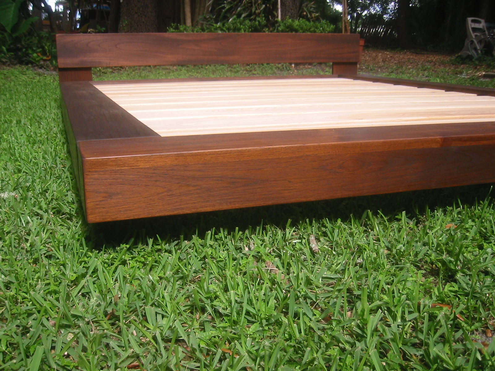 Teak or Alder wood Beach Platform bed August Moon Beds