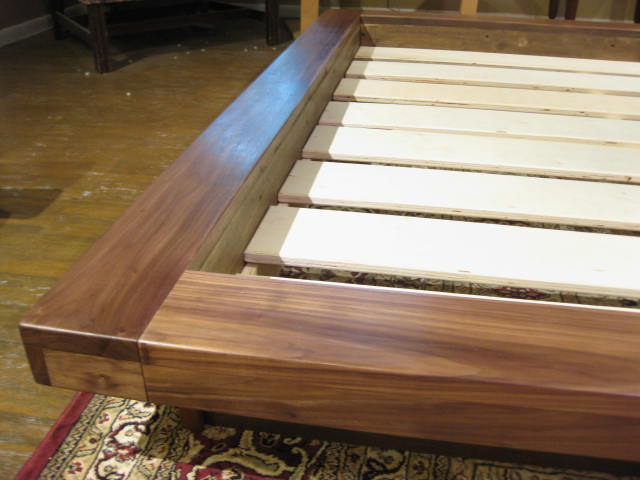 how to finish wood bed frame with danish oil